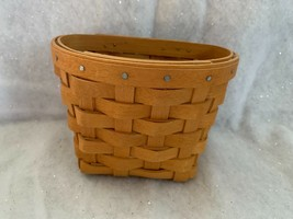 1998 Longaberger Oregano Booking Basket With Plastic Protector - $14.89