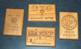 Israel Olive Wood Small Magnet Judaica Messianic Menorah Jerusalem Peace Dove image 10