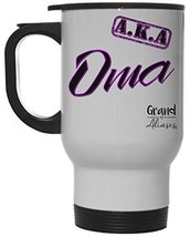 """Grand Aliases Series Grandmother """"A.K.A. Oma"""" 12 Ounce Hot/ Cold White Travel Co - $18.76"""