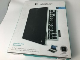 LOGITECH KEYBOARD FOLIO CASE 920-008521 FOR IPAD 4 3 2 generation Black - $28.03
