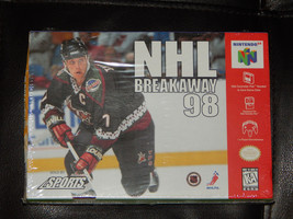 New NHL Breakaway 98 Nintendo 64 N64 1998 Free Shipping Sports Hockey NH... - $24.74