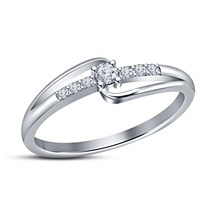 14k White Gold Plated 925 Silver Round Diamond Womens Band Style Engagem... - $49.84