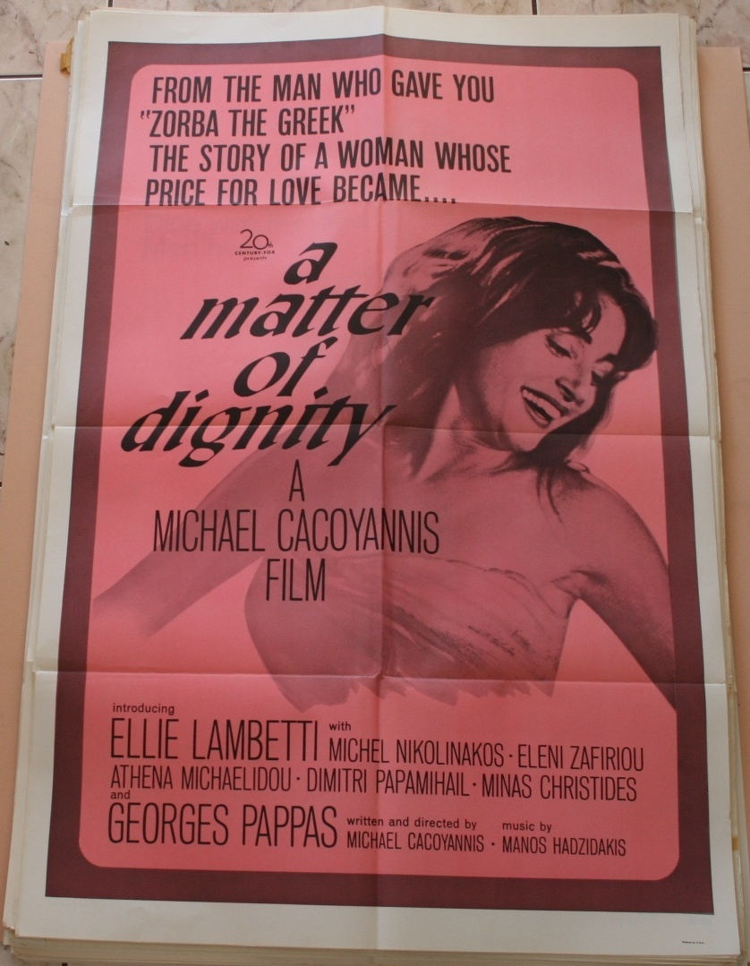 A Matter Of Dignity  Original Movie Poster Ellie Lambetti  41x27 1957