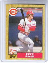 #200 Pete Rose 1987 Topps Baseball - $1.75