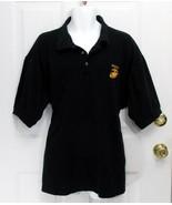 New 2XL Rothco Mens Black Marines Licensed Polo Shirt W/Gold USMC Emblem... - $23.95