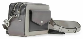 Michael Kors Ginny NWT  Shades Of Grey Camera Crossbody Bag Small Zip SC - $138.59