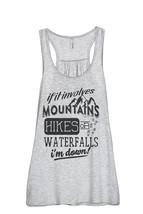 Thread Tank Mountains Hikes Waterfall Women's Sleeveless Flowy Racerback Tank To - $24.99+