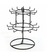 Revolving Countertop Keychain Rack in Black - 11.375 H X 10.25 W Inches - $49.40