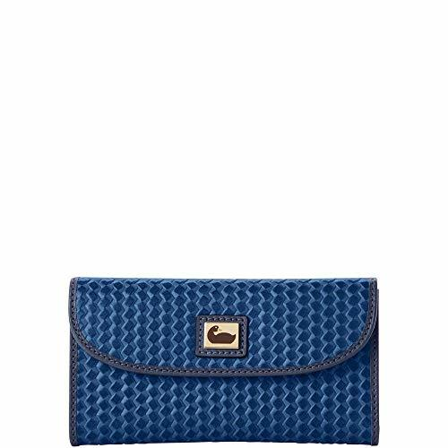 Dooney & Bourke Camden Woven Continental Clutch Wallet Midnight Blue