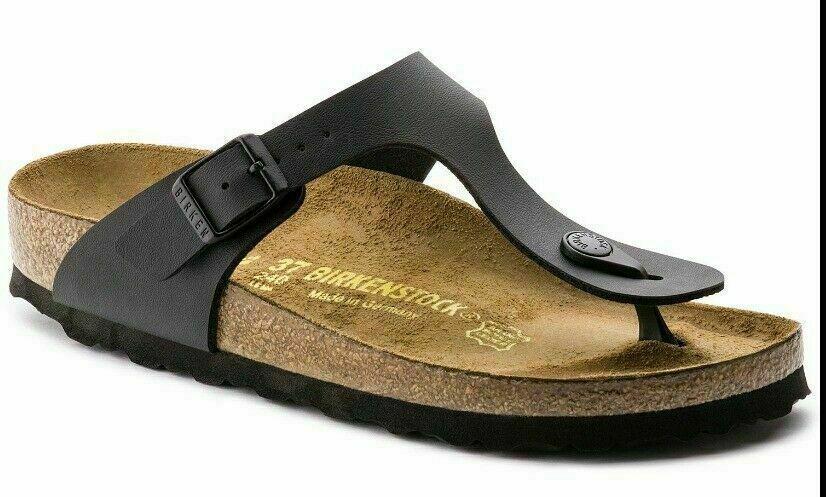 Birkenstock Gizeh Black Women's Leather Sandal Shoe Size US 10