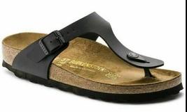 Birkenstock Gizeh Black Women's Leather Sandal Shoe Size US 10 - $49.99