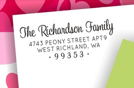 Address Stamp, Return Address Stamp, Personalized Stamp, Housewarming Gi... - $24.50