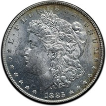 1885 MORGAN SILVER DOLLAR COIN Lot# A 503 image 1