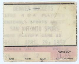 San Antonio Spurs @ Denver Nuggets 1983 Playoffs Ticket Stub! Dan Issel ... - $3.95