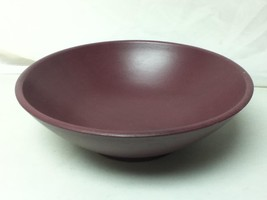 Vintage, Large, Round, Brown Wooden Style Resin Bowl 12in D x 6.5in T - $14.20