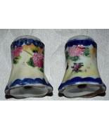 Vintage Porcelain Hand Painted Salt Pepper Shakers Set - $11.28