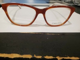 NEW Calvin Klein CK5841 313 Women's Eyeglasses Frames 54-16-135 Havana / White - $41.58
