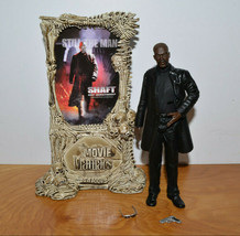 MOVIE MANIACS SHAFT ACTION FIGURE MCFARLANE TOYS LAURENCE FISHBURNE 2000 - $21.58