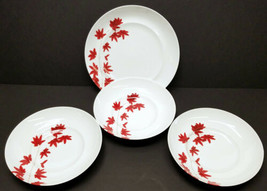 Mikasa Pure Red 4-Piece European Porcelain Soup Bowl and Dinner Plate Set - $55.43