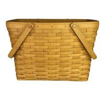 1999 Longaberger Large Market Basket Double Swing Handles 11x15x9 Rectangle - $68.26