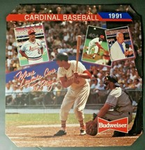 Vintage St Louis Cardinals 1991 MLB Baseball Pocket Schedule Display - Budweiser - $34.99