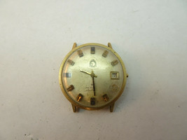 HAMILTON 10KT RGP 1973 DATE ELECTRONIC WATCH FOR RESTORATION OR PARTS VI... - $120.94