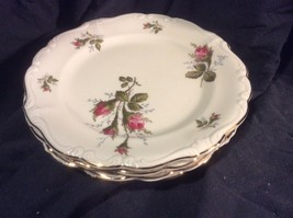 Rosenthal Pompadour Moss Rose - Bread and Butter Plates Set Of 4 - $24.99