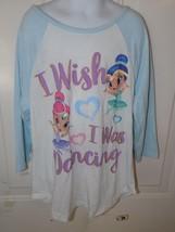 Nickelodeon Shimmer and Shine I WISH I WAS DANCING 3/4 Sleeve Shirt Size... - $15.20