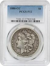 1880-CC $1 PCGS F12 (Reverse of 1879) Better Carson City Dollar - $223.10