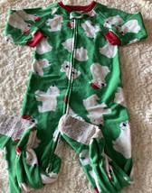 Child Of Mine Boys Green White Polar Bear Santa Fleece Long Sleeve Pajamas 2T - $5.95