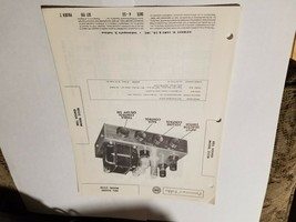 Vintage Photofact Folder Parts Manual - b1 - Bell Sound - Model 2122B - $6.92