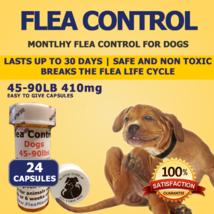 410MG FLEA CONTROL For DOGS 45-90 Pounds 24 TREATMENTS EACH LASTS A MONTH - €15,33 EUR