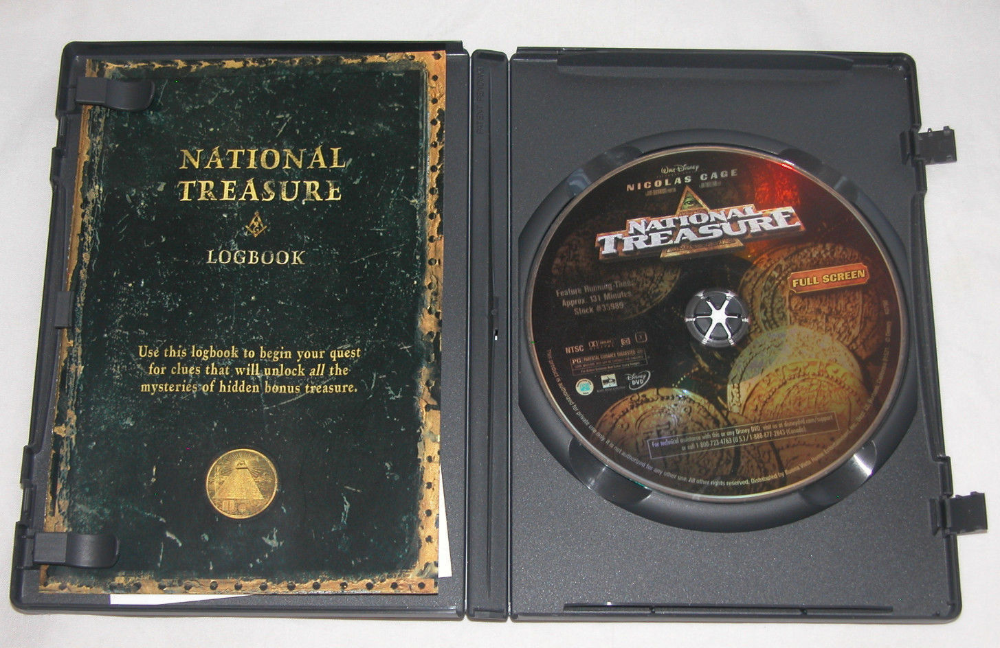 National Treasure DVD, 2005, Full Frame, Jon Voight, Nicolas Cage, Free Ship USA