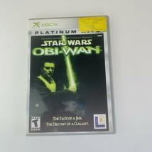 Star Wars: Obi-Wan : Platinum Hits (Microsoft Xbox, 2001) Complete w/Man... - $11.87