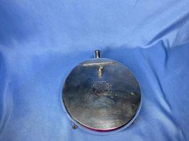 Vintage Oneida Silversmiths Silent Butler Crumb Catcher Ash Tray Footed Flip Lid - $14.99