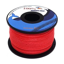 emma kites Red UHMWPE Braided Cord High Strength Least Stretch Tent Tarp... - $24.90