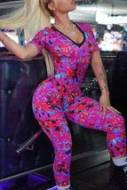 Casual Printed  One-piece Jumpsuit - $27.06