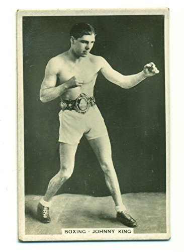 "1935 Pattreiouex Johnny King #8 Vintage Boxing Card ""Sporting Events and Stars"""