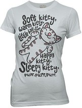 The Big Bang Theory Soft Kitty Women's / Junior's Style Baby Doll T-Shir... - $19.34