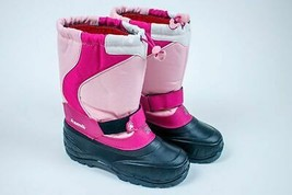 KAMIK PINK WINTER SNOW BOOTS BIG GIRLS YOUTH SIZE 4 WATERPROOF - $21.77