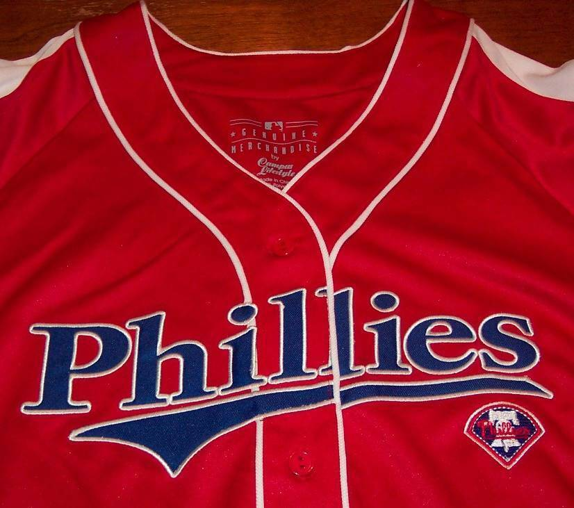 WOMEN'S MISSES PHILADELPHIA PHILLIES MLB BASEBALL JERSEY LARGE NEW w/ TAG image 2