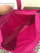 MARC BY MARC JACOBS  magenta Laminated Twill Jacobs Medium Tote 590849 - $144.93