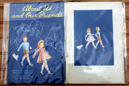 About Us and Our Friends Dick & Jane style Metropolitan Life Insurance b... - $10.82