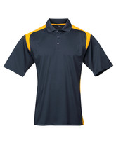 Tri-Mountain Blitz 145 Knit Polo Shirt - Navy /  Gold - $24.85+