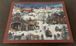 CHRISTMAS MEMORIES- LANG ART- 500 PIECE JIGSAW PUZZLE- Built In Display - $15.83