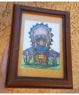 Vintage GERDA CHRISTOFFERSEN'S lithograph OF INDIAN GIRL Native American... - $34.65