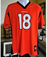 NFL Players Denver Brocos Peyton Manning Jersey #18 Size Youth XL 18/20 ... - $42.57