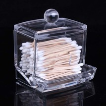 Transparent Acrylic Holder Storage Box Transparent Cotton Swabs Stick Co... - $6.09