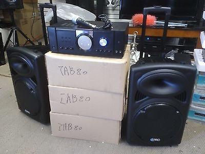 Open Box 2500 watt Technical Pro DJ system Amplifer,2 Speakers, Microphone.