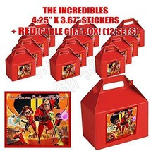 INCREDIBLES 2 Movie Party Favor Boxes Thank you Decals Stickers Loots Pa... - $26.68